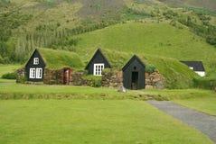 Maisons de l'Islande de tradition Photographie stock libre de droits
