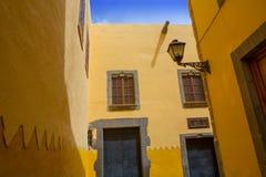Maisons de Las Palmas de Gran Canaria Vegueta Images libres de droits