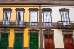 Maisons de Las Palmas de Gran Canaria Vegueta Image stock