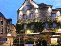 Maisons de Lea di Les della struttura in Honfleur, Francia Fotografia Stock