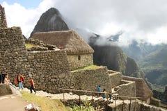 Maisons de Machu Picchu Image libre de droits