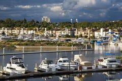 Maisons de marina et de luxe de la Californie. Photos stock