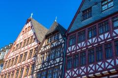 maisons de moitié-bois de construction, vieille ville, Francfort Photos libres de droits