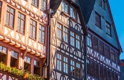 maisons de moitié-bois de construction, vieille ville, Francfort Photographie stock