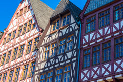 maisons de moitié-bois de construction, vieille ville, Francfort Photo stock