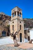 Maisons de Monemvasia et église, Péloponnèse, Grèce image stock