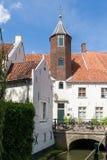 Maisons de mur à Amersfoort, Pays-Bas Photos stock