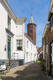 Maisons de mur à Amersfoort, Pays-Bas Image stock