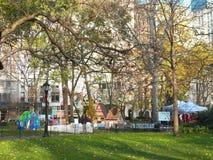 Maisons de pain d'épice grandeur nature automatiques en Madison Square Park Photo libre de droits