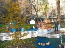 Maisons de pain d'épice grandeur nature automatiques en Madison Square Park Image stock