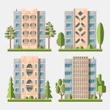 Maisons de panneau set3 plat Image libre de droits