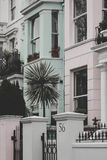 Maisons de pastel de Notting Hill Photos stock