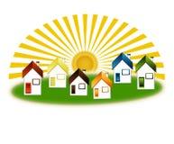 Maisons de pays Illustration Stock