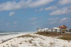 Maisons de plage   Image stock