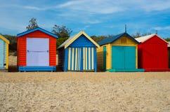 Maisons de plage colorées à Melbourne, Australie Photographie stock libre de droits