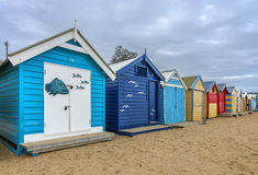 Maisons de plage de Brighton Photo libre de droits