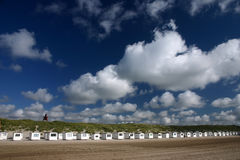 Maisons de plage de Loekken Photos stock