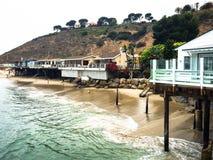 Maisons de plage Malibu Photographie stock libre de droits