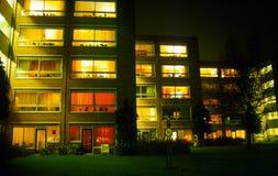 Maisons de retraite en soirée Image libre de droits