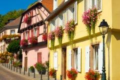 Maisons de Ribeauville Photos libres de droits