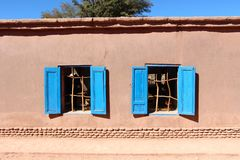 Maisons de San Pedro de Atacama Photos stock