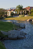 Maisons de terrain de golf de Palm Spring Photographie stock libre de droits