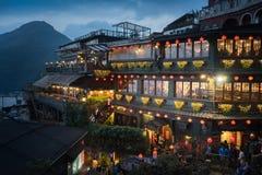 Maisons de thé de Hillside dans Jiufen Taïwan Photographie stock