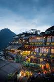 Maisons de thé de Hillside dans Jiufen Taïwan Images stock