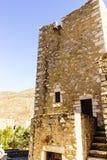 Maisons de tour dans Vathia Grèce Mani Peninsula photographie stock
