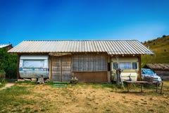 Maisons de vacances à un terrain de caravaning Photos stock