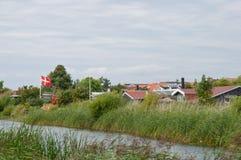 Maisons de vacances dans Karrebaeksminde au Danemark Images libres de droits