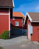 Maisons de vacances en Suède Image libre de droits