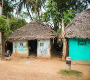 Maisons de village Photos stock