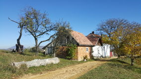 Maisons de village en Transylvanie Images libres de droits