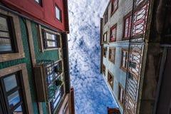 Maisons de ville à Porto Image stock