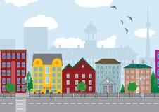 Maisons de ville illustration stock