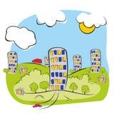 Maisons de ville illustration de vecteur