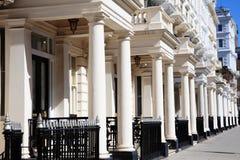 Maisons de ville en terrasse géorgiennes Images stock