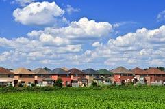 Maisons de voisinage Photos libres de droits