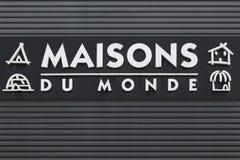 Maisons Du Monde logo na ścianie Zdjęcia Stock