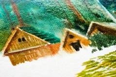 Maisons en bois Images libres de droits