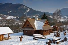 Maisons en bois Photo stock