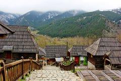 Maisons en bois Image libre de droits