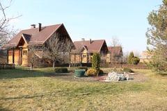 Maisons en bois Images stock