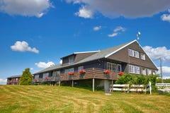 Maisons en bois côtières Photos stock