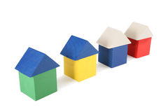Maisons en bois de jouet Photographie stock libre de droits