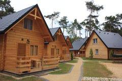 Maisons en bois de vacances Photo libre de droits