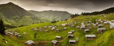 Maisons en bois des montagnes célèbres Artvin, Turquie Photo stock