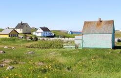 Maisons en bois en île Photo stock
