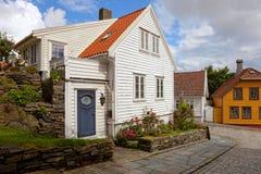 Maisons en bois en Norvège Image stock
